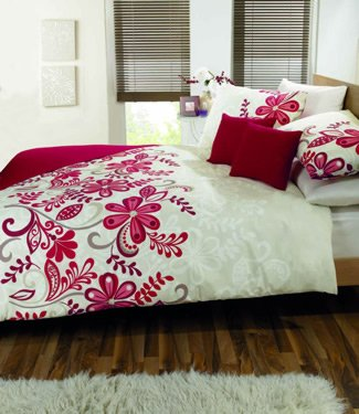 Dreams 'n' Drapes Rosso Quilt Set, Red, Double