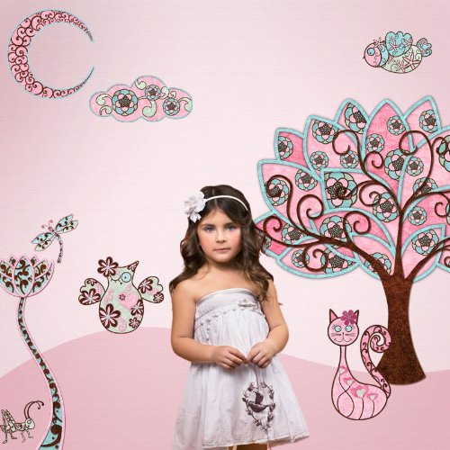 Owl Wall Stickers for Girls Room Wall Mural - Easy Peel & Stick Owl Wall Decals