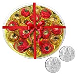 Chocholik's Amazing And Perfect Combination Of Chocolate Truffles With 5gm X 2 Pure Silver Coins - Diwali Gifts