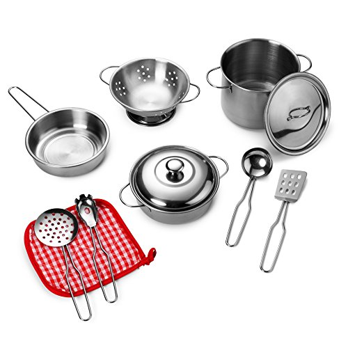 playkidz-super-durable-11-piece-stainless-steel-pots-and-pans-cookware-playset-for-kids-pretend-play