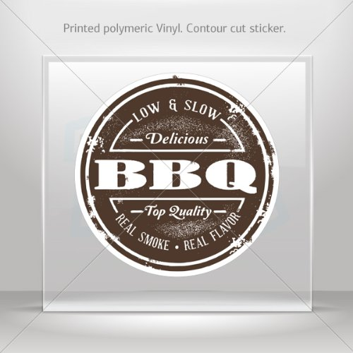 Decal Stickers Barbeque BBQ Low And Slow Sign Car Door Waterproof Racing Durable Racing 0500 W79Rs