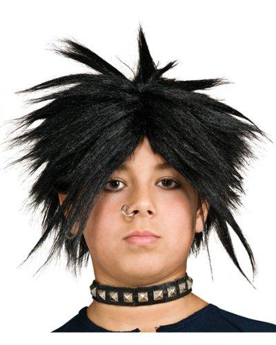 Spiker Wig Kids Black - 1