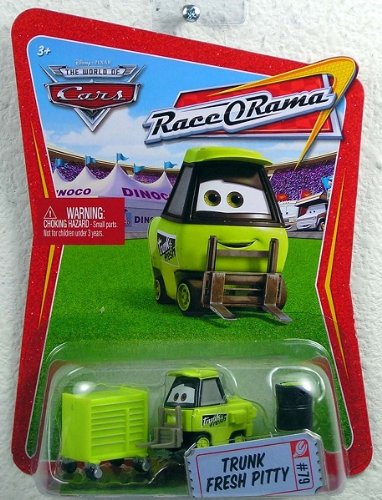 Disney / Pixar CARS Movie 1:55 Die Cast Car Series 4 Race-O-Rama Trunk Fresh Pitty - 1