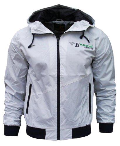 K20 Jeans Orbit Men's Lightweight Sports Rain Wind Jacket Logo white / purple Small