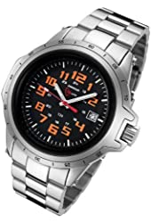 Armourlite ColorBurst Shatterproof Scratch Resistant Glass Orange Tritium Watch
