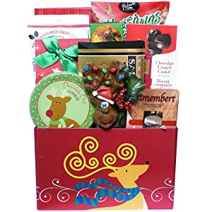 Art of Appreciation Gift Baskets Dashingly Delicious Christmas Holiday Gift Box - Gourmet Food Gift Basket with Smoked Salmon