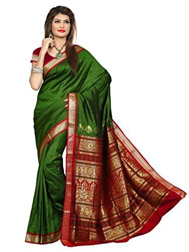 Shobha Sarees Boomkai Mysore Silk Saree (Khaki)