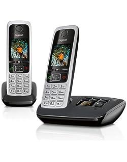 TOP VoIP-Telefon mit integriertem Anrufbeantworter - Gigaset C430 A Duo Schnurlostelefon mit einem Zusatzgerät 4,6cm 1,8Zoll TFT-Farbdisplay, Freisprecheinrichtung schwarz