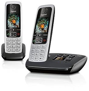 Gigaset C430 A Duo Dect-Schnurlostelefon mit Anrufbeantworter, incl. 1 zusätzliches Mobilteil, schwarz