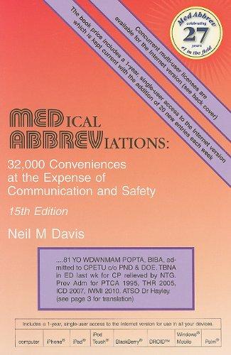 Medical Abbreviations: 32,000 Conveniences at the Expense...