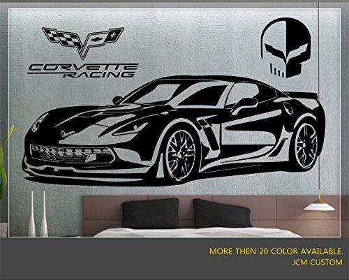 "Corvette Z06 / ZR1 Racing Sport Car Wall Decal / 60"" X 22"""