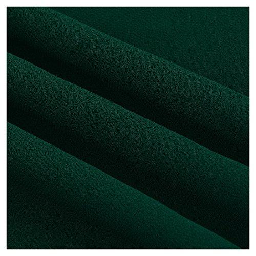 Miusol Women's Casual Deep- V Neck Sleeveless Vintage Maxi Black Dress (Large, Green)