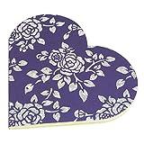 R S Jewels Paper Handmade Heart Shape Flora Designs Diary Pack Of 5 - B00Q1LIBDA