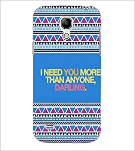 PrintDhaba Quote D-4667 Back Case Cover for SAMSUNG GALAXY S4 MINI (Multi-Coloured)