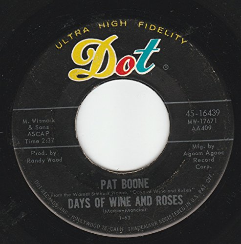 Pat Boone - 45vinylrecord Days Of Wine And Roses/meditation (7