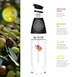 Dashi Olive Oil And Vinegar Bottle Glass Dispenser High Precision No Drip Chef Cooking Olive Oil Press and Measure Glass Dispenser, 17 oz