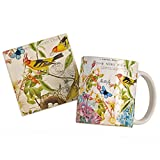 Botanical Birds Mug and Coaster Set
