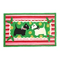 Doormat Gift Shop - Jellybean Christmas Scotties Indoor Outdoor Rug :  jellybean christmas rug gift
