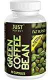 Just Potent Green Coffee Bean Extract with Svetol :: 50% Chlorogenic (CGA) Acid :: All-Natural Grade A+ Fat Burner and Weight Loss Supplement :: 60 Capsules