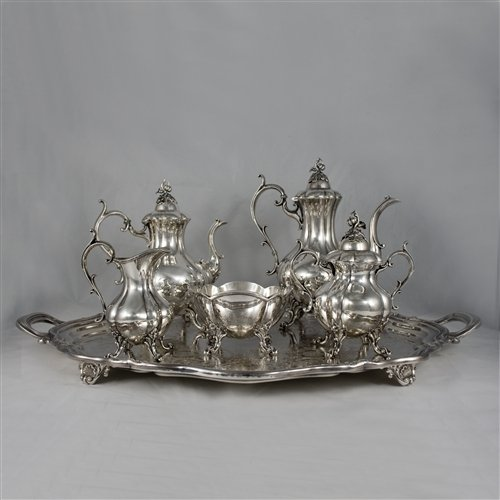 Winthrop By Reed & Barton, Silverplate 6-Pc Tea & Coffee Service
