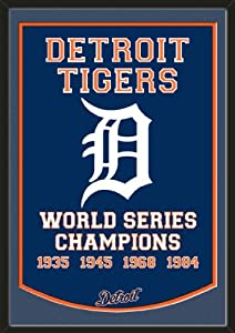 Dynasty Banner Of Detroit Tigers With Team Color Double Matting-Framed Awesome &... by Art and More, Davenport, IA