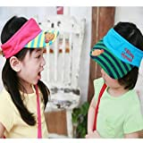 Child Bear Stripe Sun-shading Hat Baby Sun Visor Hat