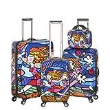 Heys USA Luggage Britto Blossom Hard Side 4 Piece Luggage Set