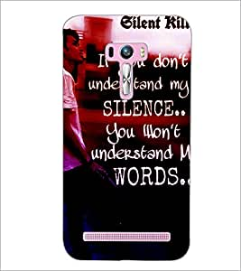 PrintDhaba Quote D-2871 Back Case Cover for ASUS ZENFONE SELFIE ZD551KL ULTRA (Multi-Coloured)