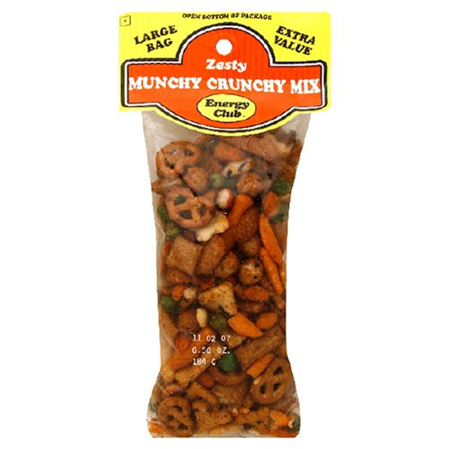 Buy Energy Club Munchy Crunchy Mix, 6.5-Ounce Bags (Pack of 12) (Energy Club, Health & Personal Care, Products, Food & Snacks, Snacks Cookies & Candy, Snack Food, Trail Mix)
