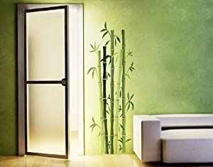 Klebefieber DS 914 Wandsticker Bambusstrauch B x H 80cm x 225cm (erhältlich in vielen Größen)    Kundenbewertung:
