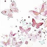 20 Servietten Lovely butterflies - Reizende Schmetterlinge