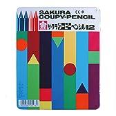 サクラクレパス クーピーペンシル 12色 FY12 缶入