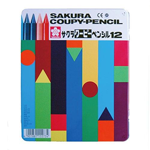12 color Sakura Color Kupi pencil (canned) (japan import) - 1