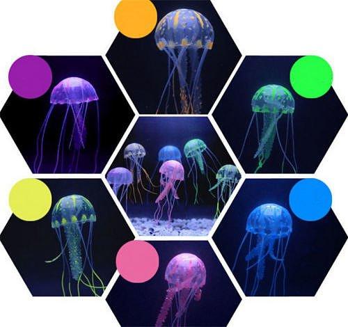 yellow-5cm-glowing-effect-jellyfish-aquarium-fish-jar-tank-ornament-swim-dcor-set-a03