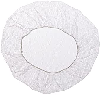 "Keystone 109HPI-24-WH White Soft Heavyweight Nylon Honeycomb Hairnet with 1/16"" Hole Aperture, 24"" Size (Case of 1000)"