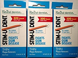Stim-U-Dent Thin Plaque removers, 320ct. 3 PACK! Mint