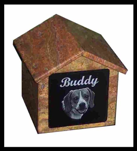 Pet Cremation House Urn Custom Marker Dog -- for Pets up to 76 Lbs.