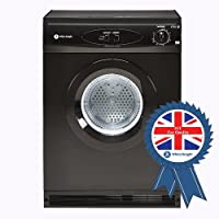 White Knight C44AB 6kg Vented Dryer in Black