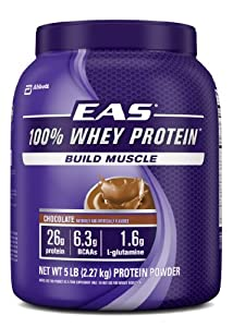 EAS 100% Whey Protein, Chocolate, 5 Pounds