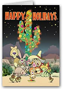 Desert Critters Happy Holidays Card- 12 carsd/13 envelopes