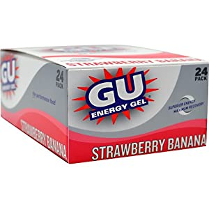 GU Energy Gel 24 per pack Strawberry Banana