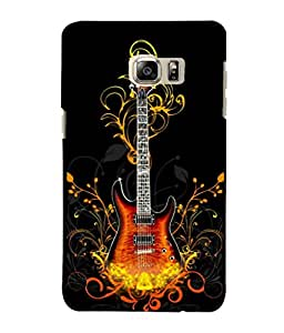 printtech Flaming Abstract Guitar Back Case Cover for Samsung Galaxy Note 5 Edge::Samsung Galaxy Note 5 Edge 2