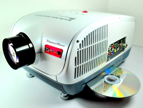 Lcd1080 theater projector with built in dvd player by for Portable movie projector