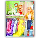 Beautiful Kids Toys With Trendy Dresses Like Barbie Doll Set Toy Baby Gift - 83