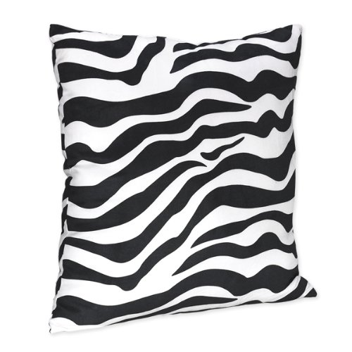 Zebra Print Accent Pillow For Lime Funky Zebra Bedding Set By Sweet Jojo Designs front-228207