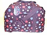 18&#8243; Navy Star Design Ultra Lightweight Holiday Travel Onboard Flight Cabin Approved Bag Sports Gym Holdall