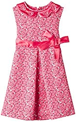 Herberto Girls' Party and Evening Dress (HRBT-DRESS-094-3_Pink_7 - 8 years)