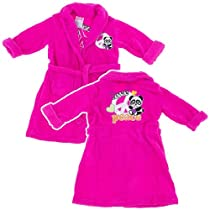 Pink Panda Plush Bath Robe for Toddlers and Girls XL/14-16