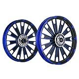 Kingway JS2T Zipp Bike Alloy Wheel Set of 2 19/19 Inch Blue and Black-Royal Enfield Electra