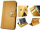 【 CIBOLA 】 ボタン式 高級牛革 iPhone6s ケース / iPhone6 ケース 手帳型 【 磁気カード でも安心利用 】【 専用箱 保存袋 クロス付 】 本革 カバー カードポケット スタンド機能 アイフォン6s / 6 用 財布型 カバー 4.7インチ対応 レトロブラウン (iphone6/6S, ブラウン)